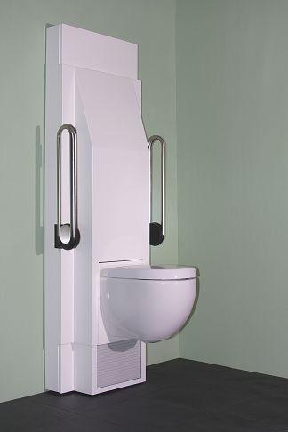 gestaltungsbeispiele elektrisch h henverstellbare toilette wc f r din standard befestigung. Black Bedroom Furniture Sets. Home Design Ideas