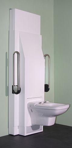 dbb das bewegte bad elektrisch h henverstellbar wc toilette und waschtisch waschbecken. Black Bedroom Furniture Sets. Home Design Ideas